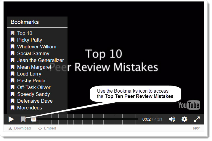 top 10 peer review mistake image to link to video